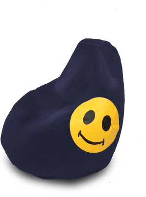 Dolphin Bean Bags XL DOLPHIN XL Bean Bag N.Blue-Smiley-FILLED(with Beans) Bean Bag  With Bean Filling