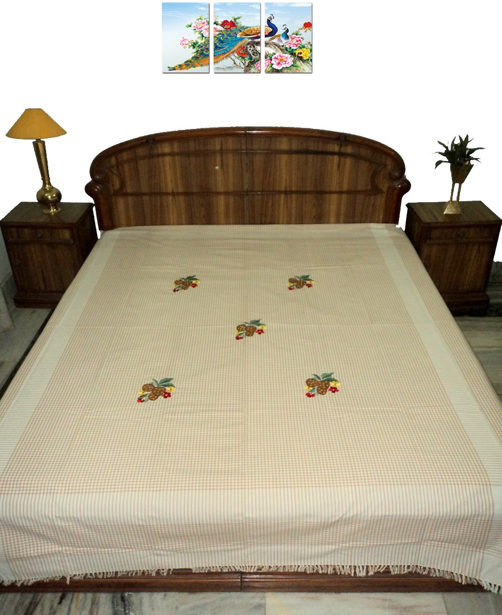 Amita Home Furnishing Cotton Double Bed Cover