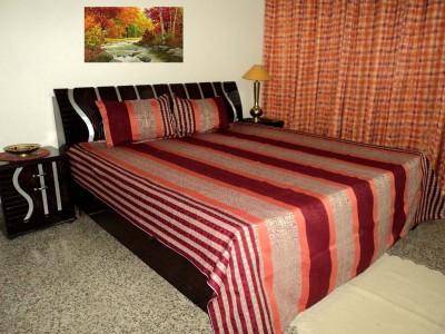 Amita Home Furnishing Silk Queen Bed Cover(Multicolor)
