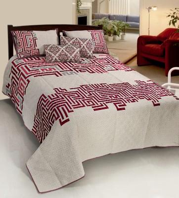 Nine Living Polycotton Geometric Double Bedsheet