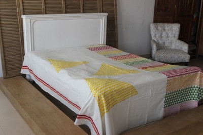 MYYRA Cotton Double Bed Cover(Multicolor)