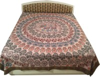 Minky's Decor Cotton King Bed Cover(Brown)