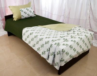 Tangia Caribou Print and Patchwork Reversible Cotton Bedding Set