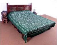 Jaipurtextileshub Cotton Double Bed Spread(Green)