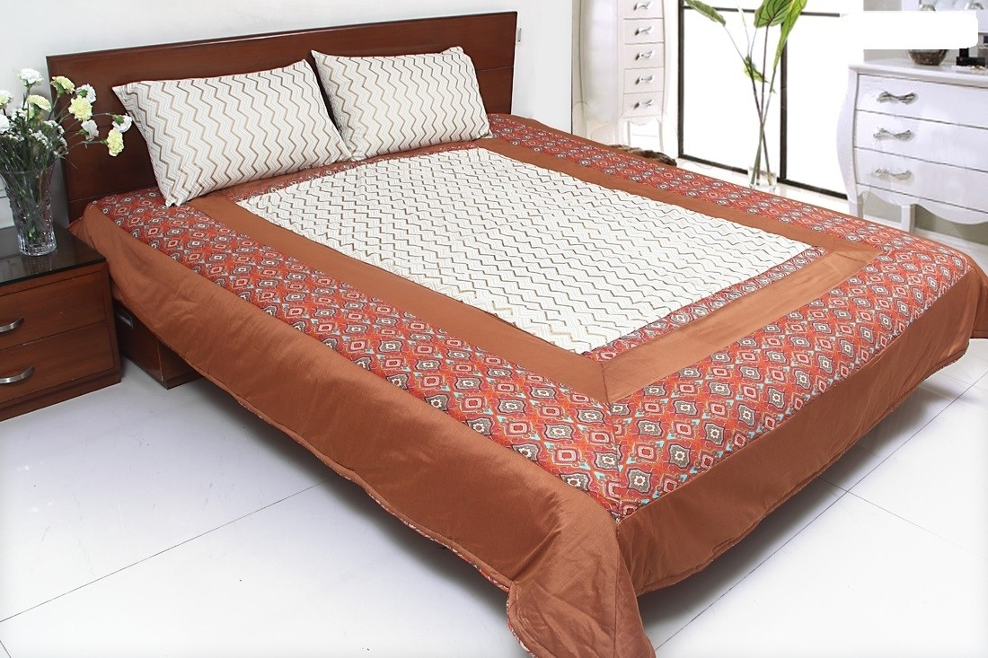 Coco Bee Cotton Double Bed Cover