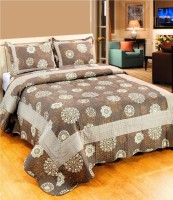 Elegance Cotton Double Bed Cover(Black)