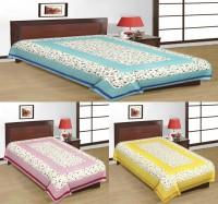 Kismat Collection Cotton Printed Single Bedsheet