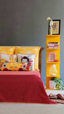 Chumbak Cotton Double Bed Cover(Red)