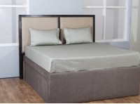 Anna Simona Cotton King Bed Cover(Grey)