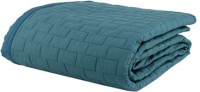 Swastika Cotton Double Bed Cover(Blue)