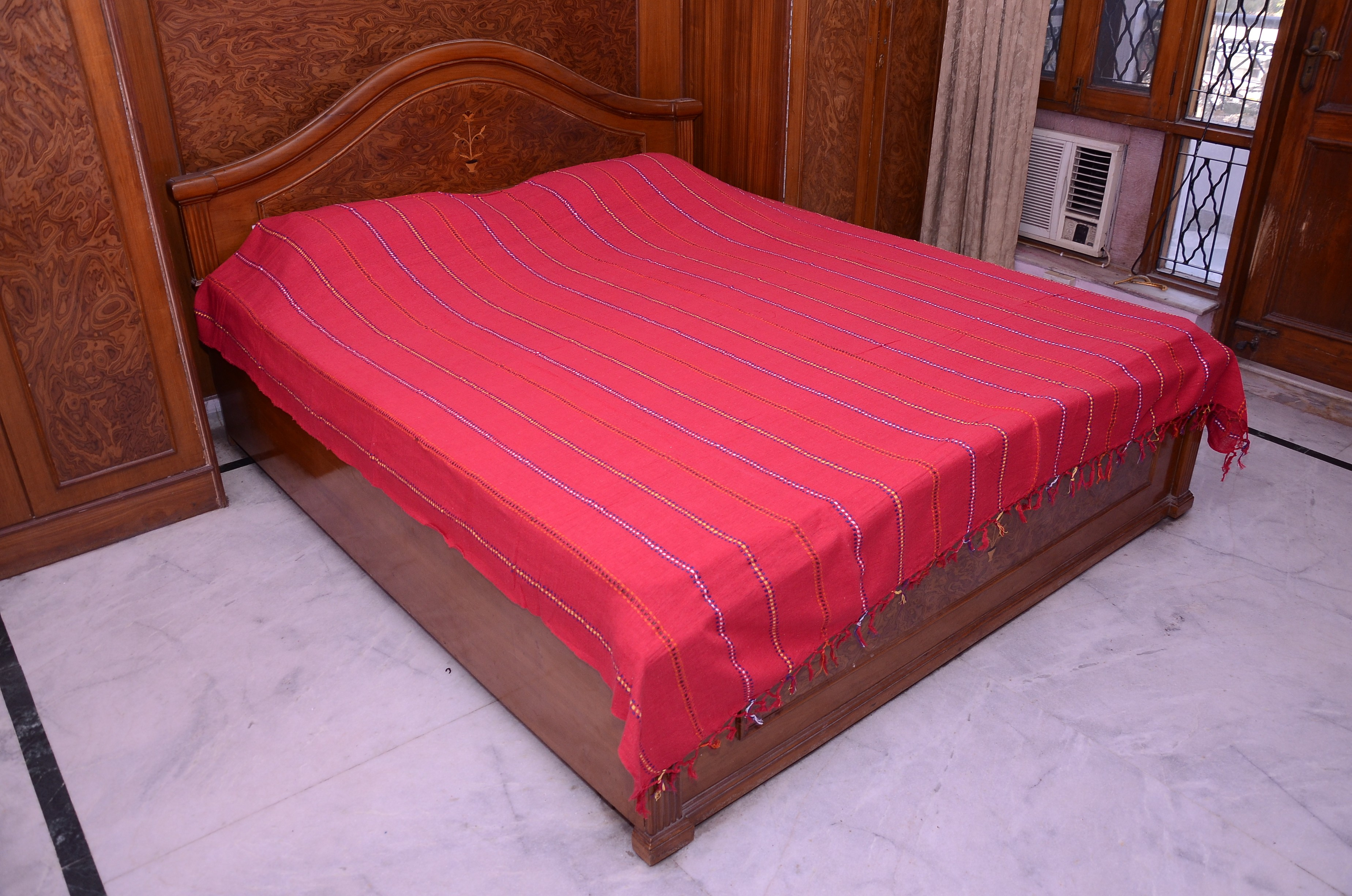 Aadyahome Cotton Double Bed Cover class=