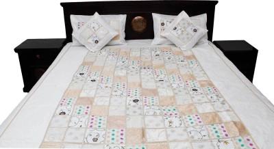 Indigocart Silk Printed Double Bedsheet