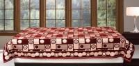 Bhavya Chenille Single Bed Spread(Maroon)
