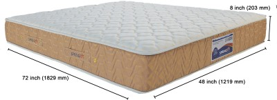 SPRINGFIT DXPLATINUM72488 8 inch Single Spring Mattress