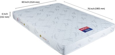 Kurlon Relish 6 inch Queen Spring Mattress(75x60x6 inch)