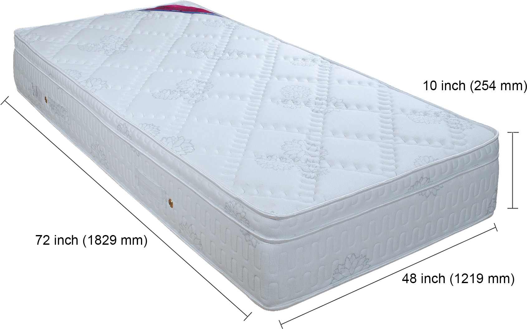 Springwel Luxury Collection 10 inch Single Spring Mattress
