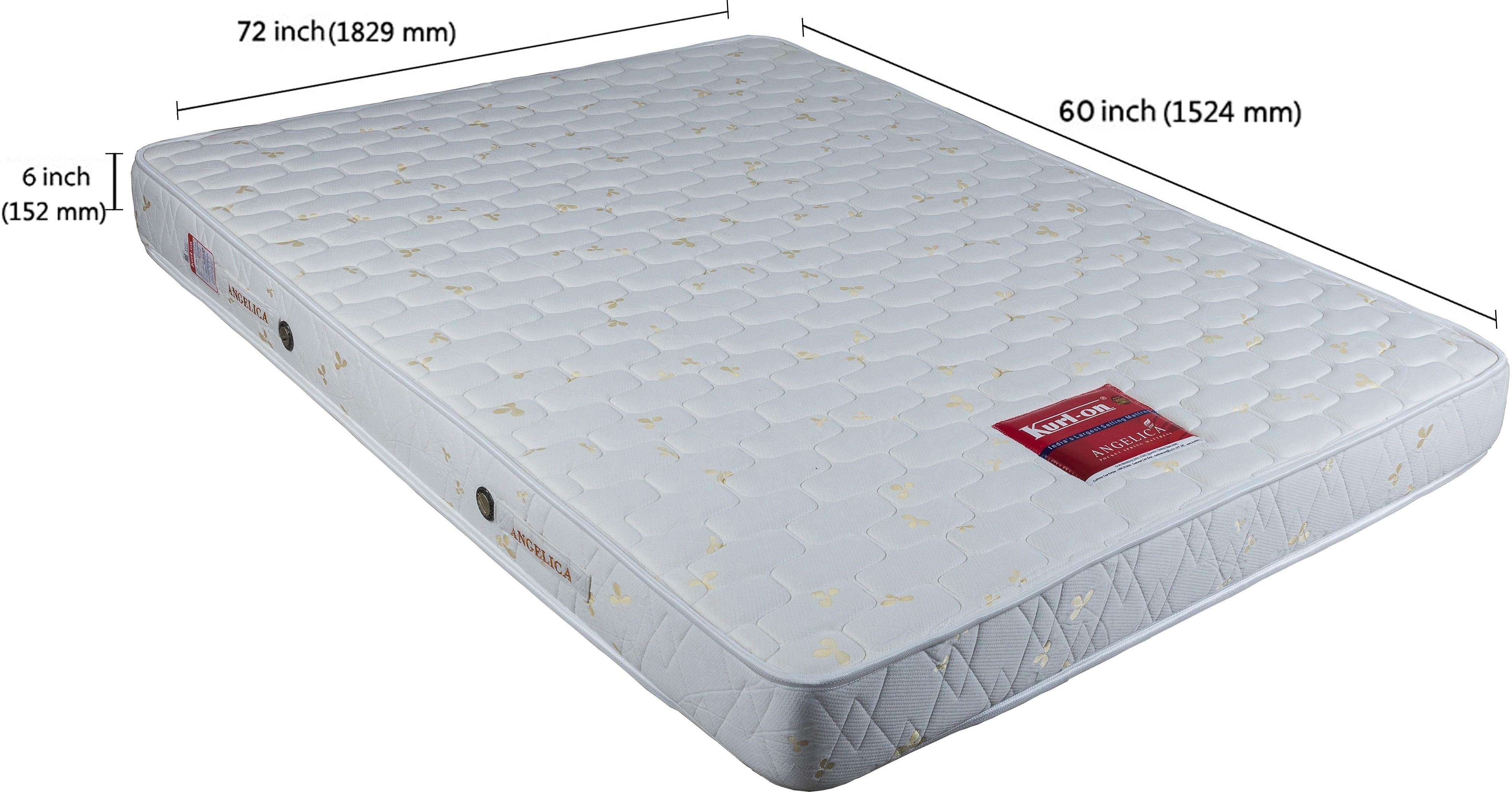 View Kurlon Angelica 6 inch Queen Pocket Spring Mattress Furniture (Kurlon)