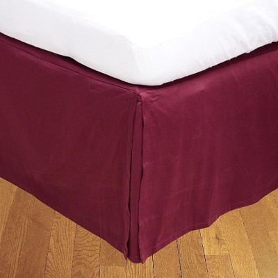 LNT Fitted Single Size Bed Skirt(Wine Box Pleat Pack of1)