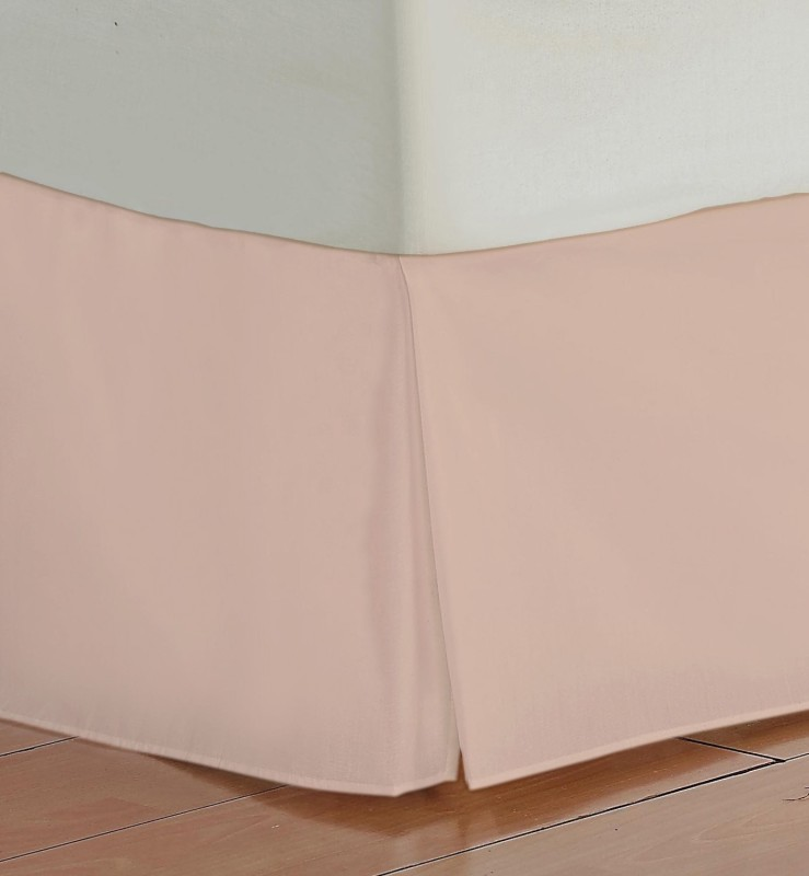 Misr Fitted Single Size Bed Skirt(Pink Box Pleat Pack of1)