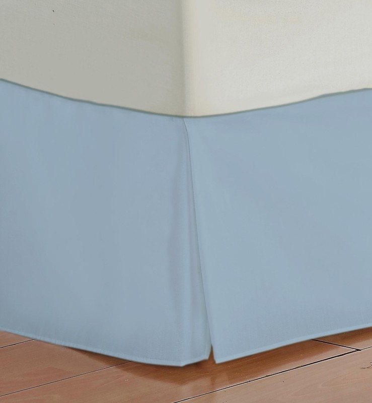 Misr Fitted Single Size Bed Skirt(Sky Blue Box Pleat Pack of1)