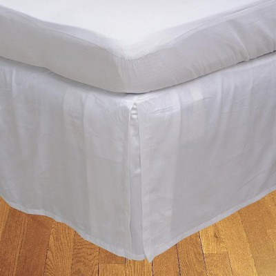 LNT Fitted Single Size Bed Skirt(White Box Pleat Pack of1)