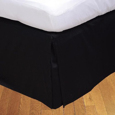 LNT Fitted Single Size Bed Skirt(Black Box Pleat Pack of1)