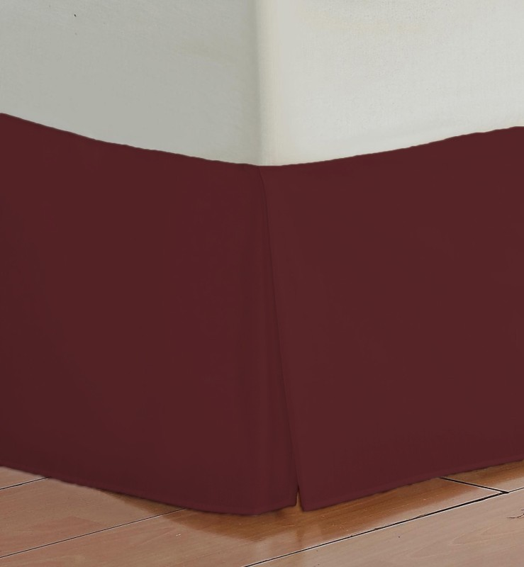 Misr Fitted Single Size Bed Skirt(Burgundy Box Pleat Pack of1)