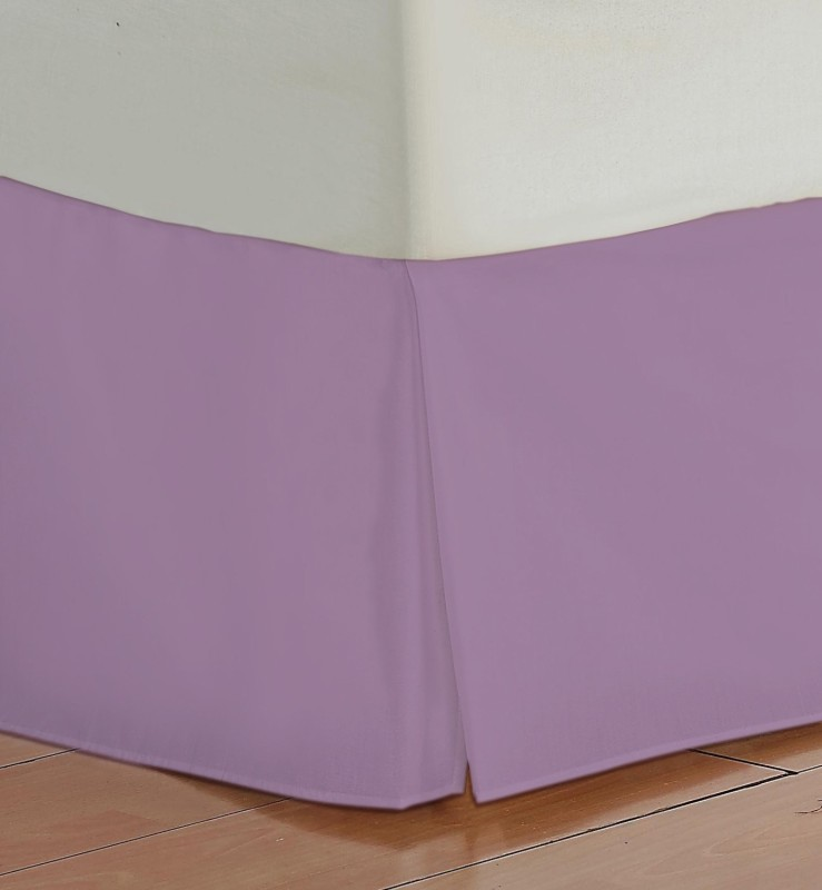 Misr Fitted Single Size Bed Skirt(Lilac Box Pleat Pack of1)