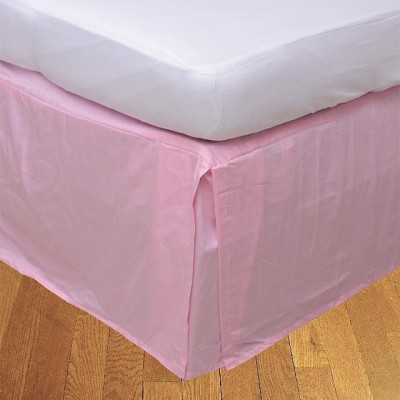LNT Fitted Single Size Bed Skirt(Pink Box Pleat Pack of1)