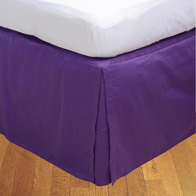 LNT Fitted Single Size Bed Skirt(Purple Box Pleat Pack of1)