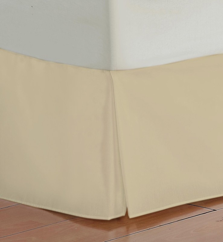Misr Fitted Single Size Bed Skirt(Taupe Box Pleat Pack of1)