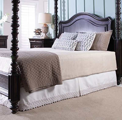 Renaissance Home Fashion Size Bed Skirt(Stone)