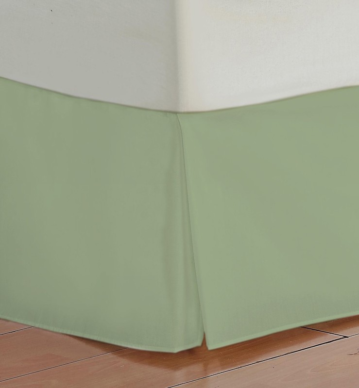 Misr Fitted Single Size Bed Skirt(Sage Box Pleat Pack of1)