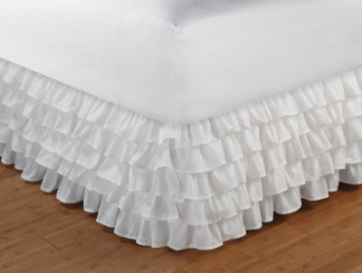Greenland Home Size Bed Skirt(White)