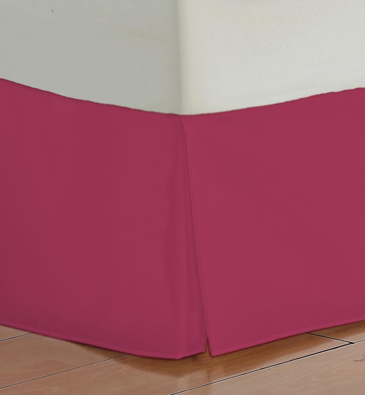 Misr Fitted Single Size Bed Skirt(Hot Pink Box Pleat Pack of1)