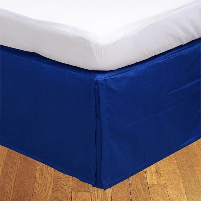 LNT Fitted Single Size Bed Skirt(Egyption Blue Box Pleat Pack of1)