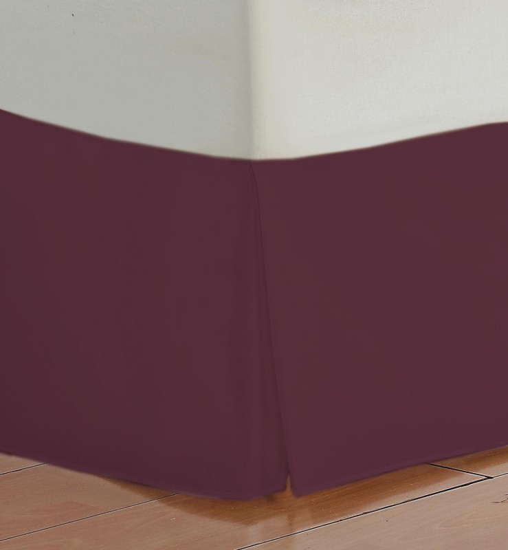 Misr Fitted Single Size Bed Skirt(Wine Box Pleat Pack of1)