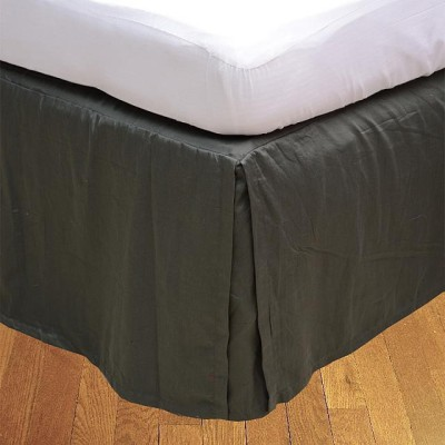 LNT Fitted Single Size Bed Skirt(Elephant Grey Box Pleat Pack of1)