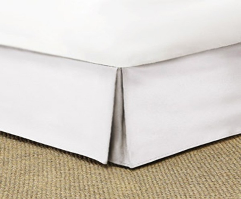 Misr Fitted Single Size Bed Skirt(White Box Pleat Pack of1)