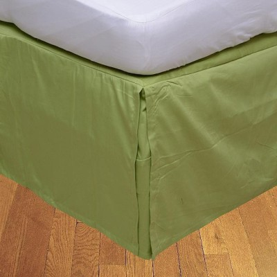 LNT Fitted Single Size Bed Skirt(Sage Box Pleat Pack of1)