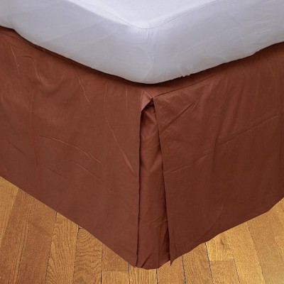 LNT Fitted Single Size Bed Skirt(Brick Red Box Pleat Pack of1)