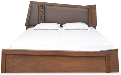 @home by Nilkamal Everest Solid Wood Queen Bed With Storage(Finish Color -  Amelia Oak)