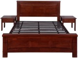 Evok Amber Solid Wood Queen Bed (Finish ...
