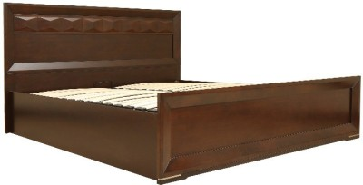 HomeTown Amelia Solid Wood Queen Bed With Storage(Finish Color -  Brown)