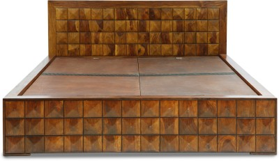 Evok Diamond Solid Wood King Bed With Storage