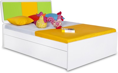 Alex Daisy Young America Engineered Wood Single Bed With Storage(Finish Color - Yellow-Green-White)