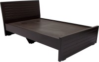 Wood Pecker Engineered Wood Single Bed(Finish Color -  Dark Brown)