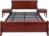 Evok Alexis Solid Wood Queen Bed (Finish...