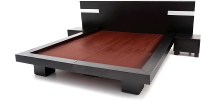Furnicity Engineered Wood King Bed(Finish Color -  Wenge)