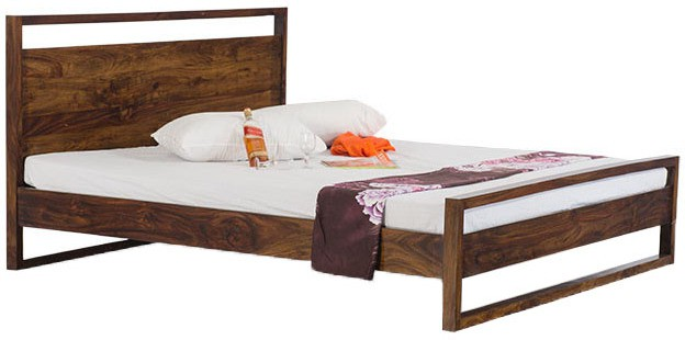 Smart Choice Furniture Smart Choice Rosewood (Sheesham) JIBD05 Matte Finish Solid Wood King Size Bed Solid Wood King Bed